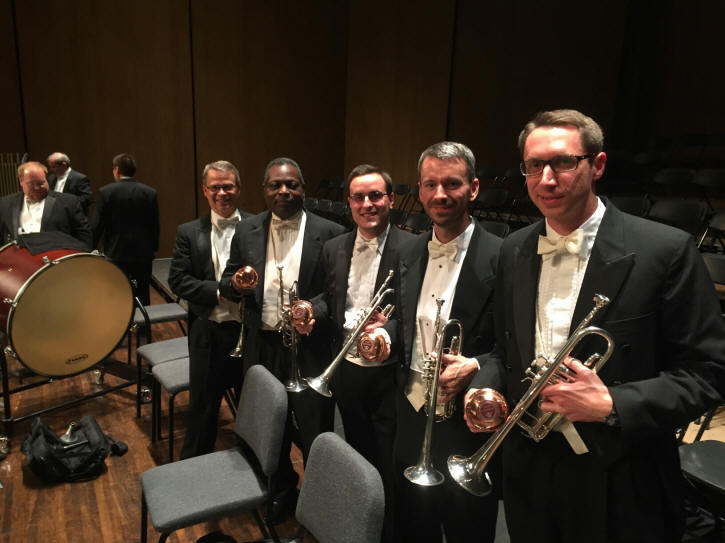 Lexington KY Symphony Orchestra with Tom Crown Gemini copper end straight mutes